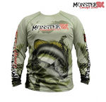 Camisa Monster 3X Black Bass Fish Collection M
